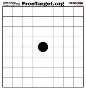Black 1 Dot 1 inch Grid Target