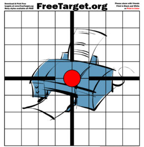Printer Red Dot 1 inch Grid Target