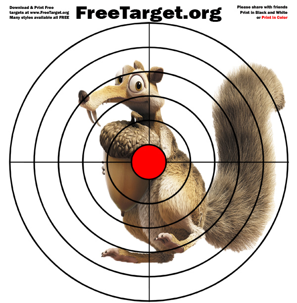 Squirrel Red Dot Bulls Eye target - download it free