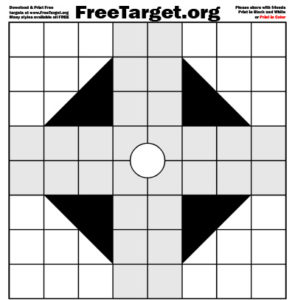 White single Dot 1 inch Grid Triangle Gray Cross Target