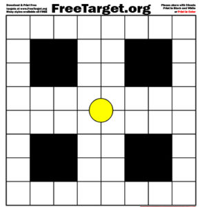 Yellow Dot 1 inch Grid Target